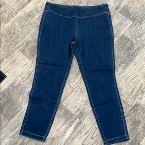 Logo petite stretch denim skinny jeans